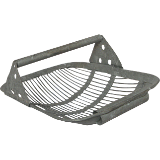 Galvanized Metal Shellfish / Oyster Trug / Basket from France