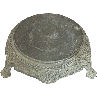 Vintage Metal Claw-Foot Pedestal from France