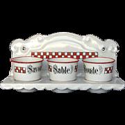 French Enamel Graniteware Soap Rack - Enamelware Laundry Rack