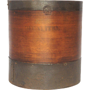 French Made Wooden Dry-Goods Measure -10 Liter Capacity