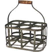 French Wine Carrier - Bottle Caddy / Basket - 6 Compartments