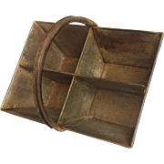 French Made Steel Trug / Industrial Caddy