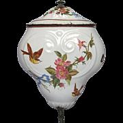 1800's French Enamel Graniteware Lavabo - BIRDS & ROSES