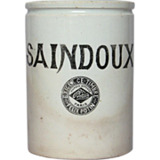 RARE French Stoneware Crock - Lard Jar - Felix Potin