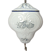 French Enamel Lavabo Fountain - late 1800s