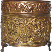 French Copper Repousse Jardiniere Planter