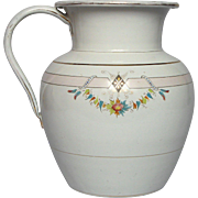 French Graniteware Enameled Over-sized Antique Pitcher