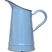 Extra Small French Enamel Granite ware Pitcher / Creamer