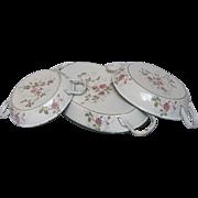 Trio of Petit French Enamel Eggs Pans - Floral Decor