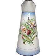 French JAPY Floral Enamel Graniteware Body Pitcher