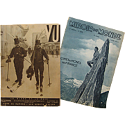Two French Magazines from 1930's - Vu & Miroir du Monde