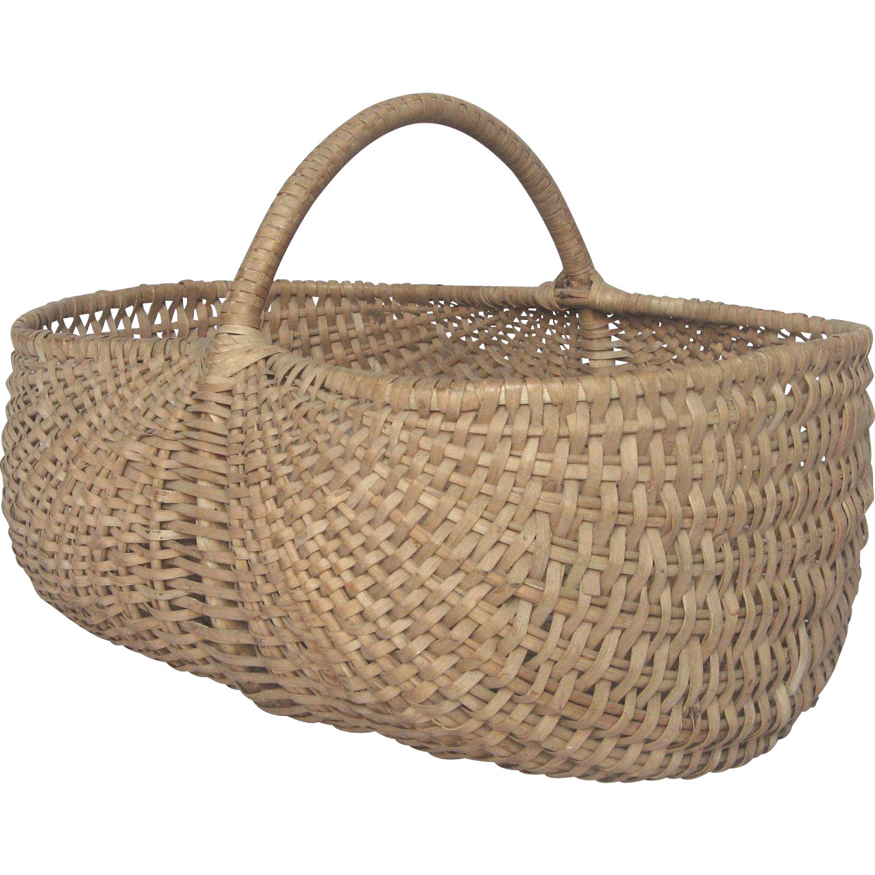 Woven Gathering Basket : Large capacity french woven harvest gathering basket