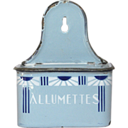 French Enameled Art Deco Match Holder