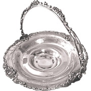 Van Bergh Quadruple Silverplate Bride's Basket