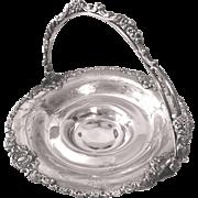 Van Bergh Quadruple Silverplate Bride's Basket