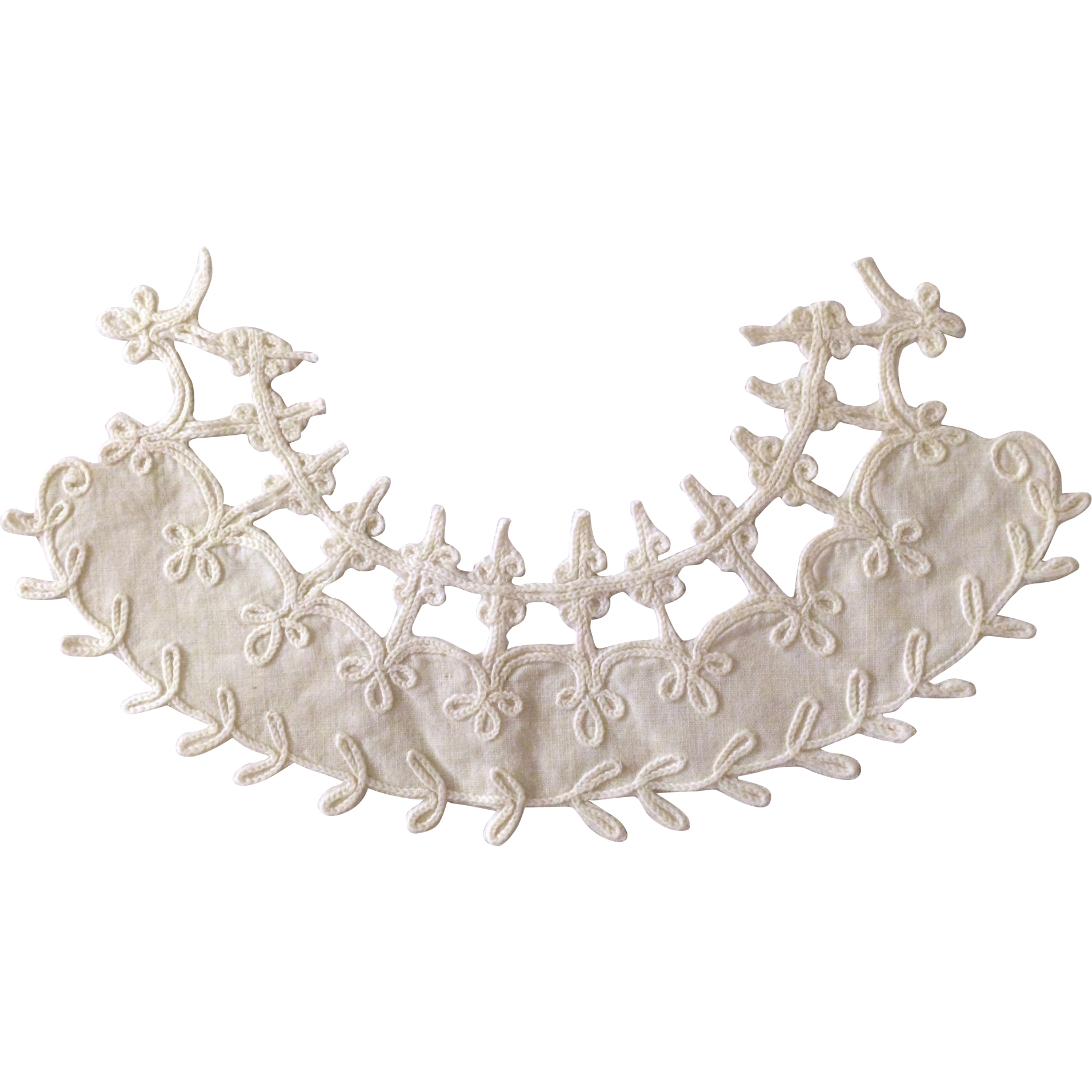Fine Linen Cutwork Applique