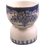 Victorian Flow Blue Transferware Egg Cup