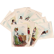 Singer Sewing Machine Co Trad Cards Various Countries