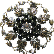 Large Circle Thistle Brooch with Scottish Flair