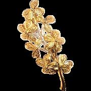 Vintage Monet Floral Stem Brooch