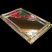 Glass Tube Vintage Dresser Mirror