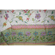 Vintage 56x80 Pastel Flower Garden Tablecloth