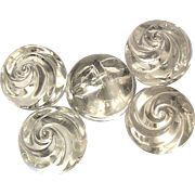 Big Swirled Glass Ball Buttons