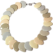 Dynamic Vintage Pastel Lucite Plastic Necklace