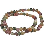 Genuine Lucite Imitation Stones Necklace Vintage