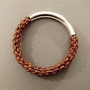 Braided premium designer bracelet. High end fashion jewelry design