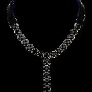Swarovski crystal biker pendant, contemporary leather necklace design