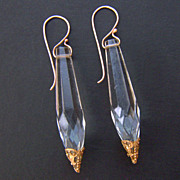 Chandelier  clear crystals brass decoration drop earrings contemporary jewelry