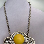 High end leather and rhinestones omlette jewelry