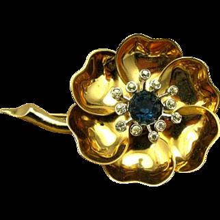 Vintage Marcel Boucher Mechanical Open & Close Flower Pin