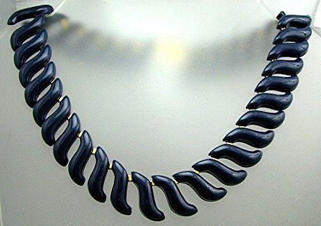 Napier Bold Blue Enamel Unusual Design Substantial