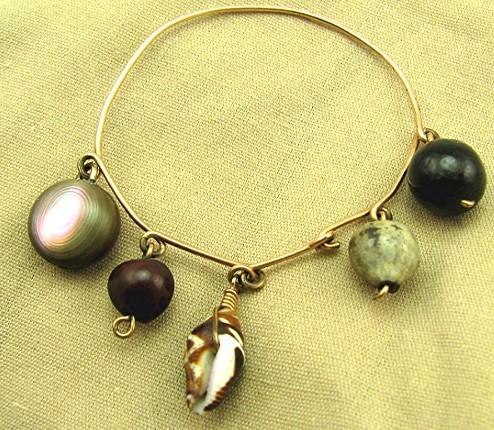 Antique Childs Souvenir Tourist Charm Bracelet