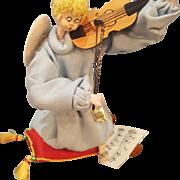 Vintage 1940's Spain Nistis Christmas Angel Playing Violin Doll