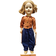 "1939 Madame  Alexander 14"" Composition Sonja Henie Doll in Skiing Costume"