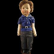 "1940's Vintage Kathe Kruse 20"" German Child Cloth Doll All Original with Bad Kosen Mark"