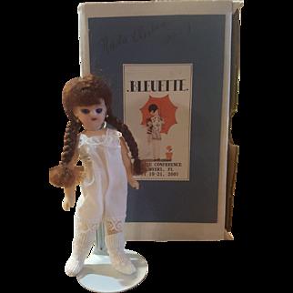 "Wonderful 4 3/4"" Nada Doll Artist Bisque Head Bleuette Doll in Original Box 2007"