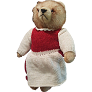 "Adorable 1940's Herman 11"" Dressed Teddy Bear"