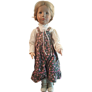 "Vintage 1980 Kathe Kruse 19"" Geraldine Doll All Original"