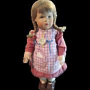 """Vintage 1980 Kathe Kruse 14"""" Christine  Doll All Original"""