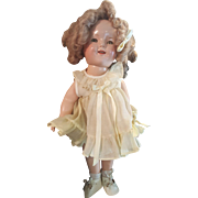 "Vintage 1934 Ideal Shirley Temple 18"" Composition Doll"