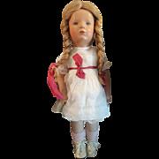 """Vintage 1960's Kathe Kruse 15"""" Doll Cute!"""