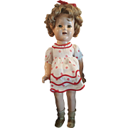 """Vintage 1934 Ideal Shirley Temple 18"""" Composition Doll"""