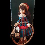 "Vintage Old Cottage Doll Girl with Hoop 9"""