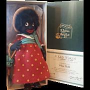 1997 R. John Wright Felt Miss Golli Golliwogg Doll Mint in Box