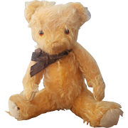 1950's Merrythought Golden Yellow Mohair Teddy Bear 11""