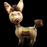 """Whimsical Vintage 1950's Italy LARS Felt Goofy Donkey Burro 11"""""""